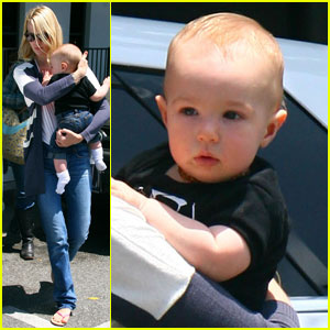 January Jones: West Hollywood with Xander!