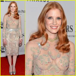 Jessica Chastain - Tony Awards 2012 Red Carpet