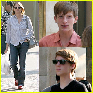 Jodie Foster: The Grove with Sons Charlie & Kit!