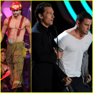 Joe Manganiello: Shirtless for MTV Movie Awards 2012!
