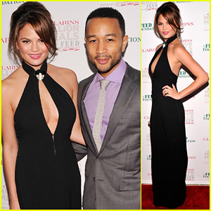 John Legend & Chrissy Teigen: Clarins Million Meals Concert!