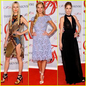 Karolina Kurkova & Candice Swanepoel - CFDA Fashion Awards 2012