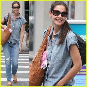 Katie Holmes: Double Denim in NYC