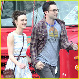 Keira Knightley & Adam Levine: 'Song Save Your Life' Set!