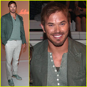 Kellan Lutz: Milan Fashion Week with Sharni Vinson!
