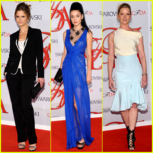 Kyra Sedgwick & Jessica Stam - CFDA Fashion Awards 2012