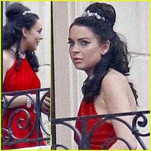 Lindsay Lohan: Tiara for 'Liz & Dick'!