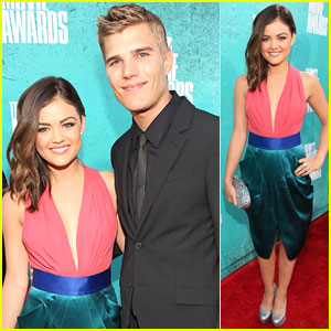 Lucy Hale & Chris Zylka - MTV Movie Awards 2012