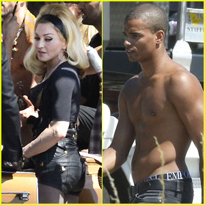 Madonna: Video Shoot with Shirtless Brahim Zaibat!
