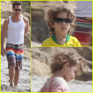 Matthew McConaughey: Beach Day with Levi &#038; Vida!
