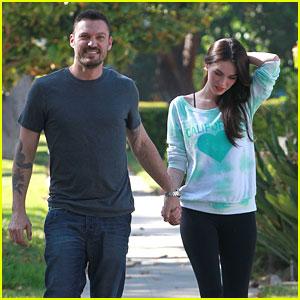 Megan Fox: Pregnant Stroll with Brian Austin Green?