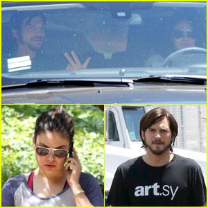 Mila Kunis & Ashton Kutcher: Coffee Bean Break