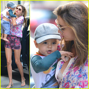 Miranda Kerr: Big Apple Stroll with Flynn!