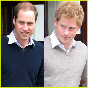 Princes William & Harry Visit Grandfather in Hospital