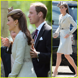 Prince William & Kate Attend Emily McCorquodale's Wedding
