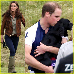 Prince William: 'Charity Day' Kisses for Lupo!