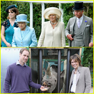 Prince William Feeds Rhino, Queen Attends Royal Ascot