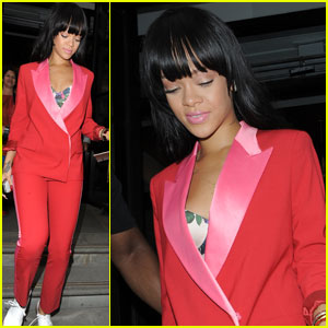 Rihanna Paints the Town Red