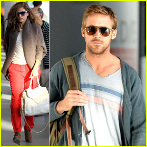 Ryan Gosling & Eva Mendes: Toronto Take Off!