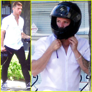 Ryan Phillippe Heads Out with His Helmet