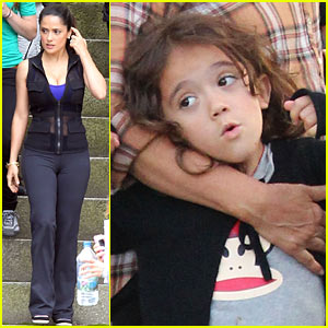 Salma Hayek: 'Grown Ups 2' Set with Valentina!