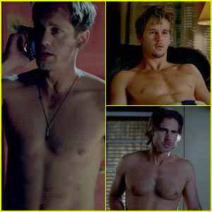 Alexander Skarsgard & Ryan Kwanten: Shirtless in 'True Blood' Premiere!