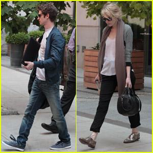Emma Stone & Andrew Garfield: Soho Hotel Exit