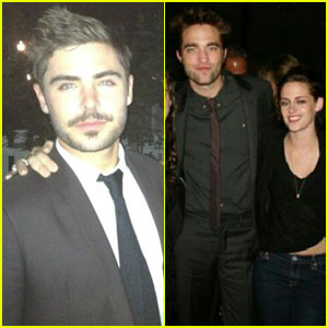 Zac Efron, Kristen Stewart & Robert Pattinson: Pal's Wedding!