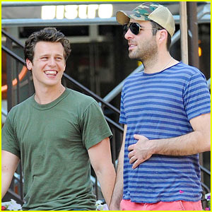 Zachary Quinto: West Village Walk with Jonathan Groff!