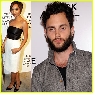 Zoe Kravitz & Penn Badgley: Little Black Jacket Event!