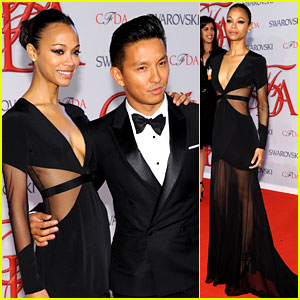 Zoe Saldana - CFDA Fashion Awards 2012 with Prabal Gurung!