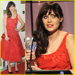 Zooey Deschanel: Critics' Choice Television Awards 2012!