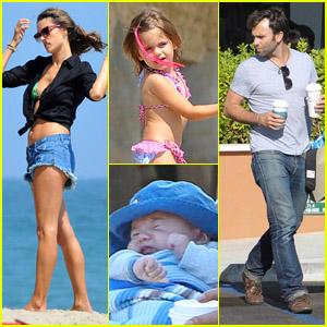 Alessandra Ambrosio Family Fun Day Alessandra Ambrosio Anja