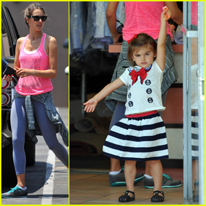 Alessandra Ambrosio & Anja: Dry Cleaning Duo!