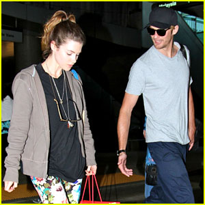 Alexander Skarsgard: LAX Arrival with Lucy Griffiths!
