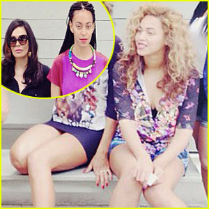 Beyonce: Fourth of July with Sister Solange and Mom Tina!