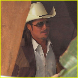 Brad Pitt on 'The Counselor' Set - First Look!