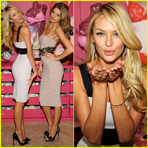 Candice Swanepoel & Bregje Heinen: Body By Victoria Launch!