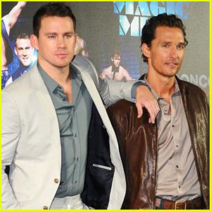 Channing Tatum & Matthew McConaughey: 'Magic Mike' Germany Photo Call!
