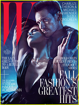 Charlize Theron & Michael Fassbender Cover 'W' August 2012