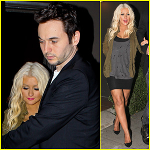 Christina Aguilera: Osteria Mozza with Matthew Rutler!