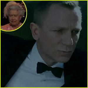 Daniel Craig & Queen Elizabeth's Olympic Arrival - Watch Now!