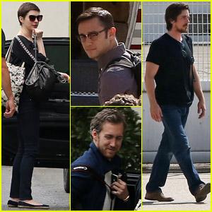 'Dark Knight Rises' Cast Leaves Paris