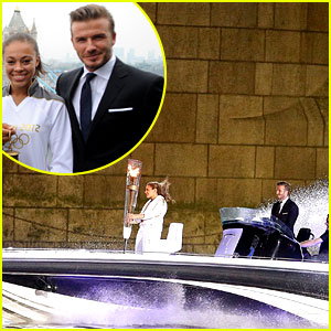 David Beckham Brings Olympic Torch to Opening Ceremony