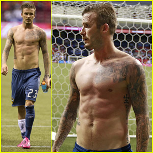 David Beckham: Shirtless Vancouver Victory!