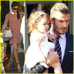 David & Victoria Beckham: Notting Hill Lunch with Harper!