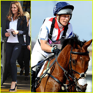 Duchess Kate & Prince William Watch Cousin Zara Phillips Compete at London Olympics