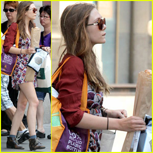 Elizabeth Olsen: Whole Foods Shopper