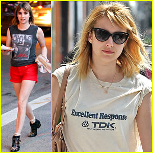 Emma Roberts: Big Apple Pizza Break!