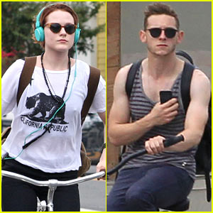 Evan Rachel Wood & Jamie Bell: Biking Twosome!